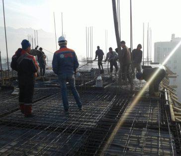 Апрель 2018 г — армирование и перекрытие 10го- этажа