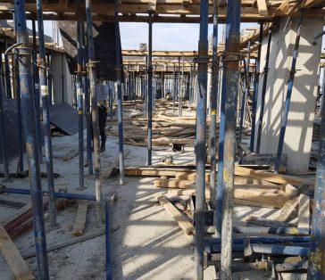 12 этаж — заливка бетона